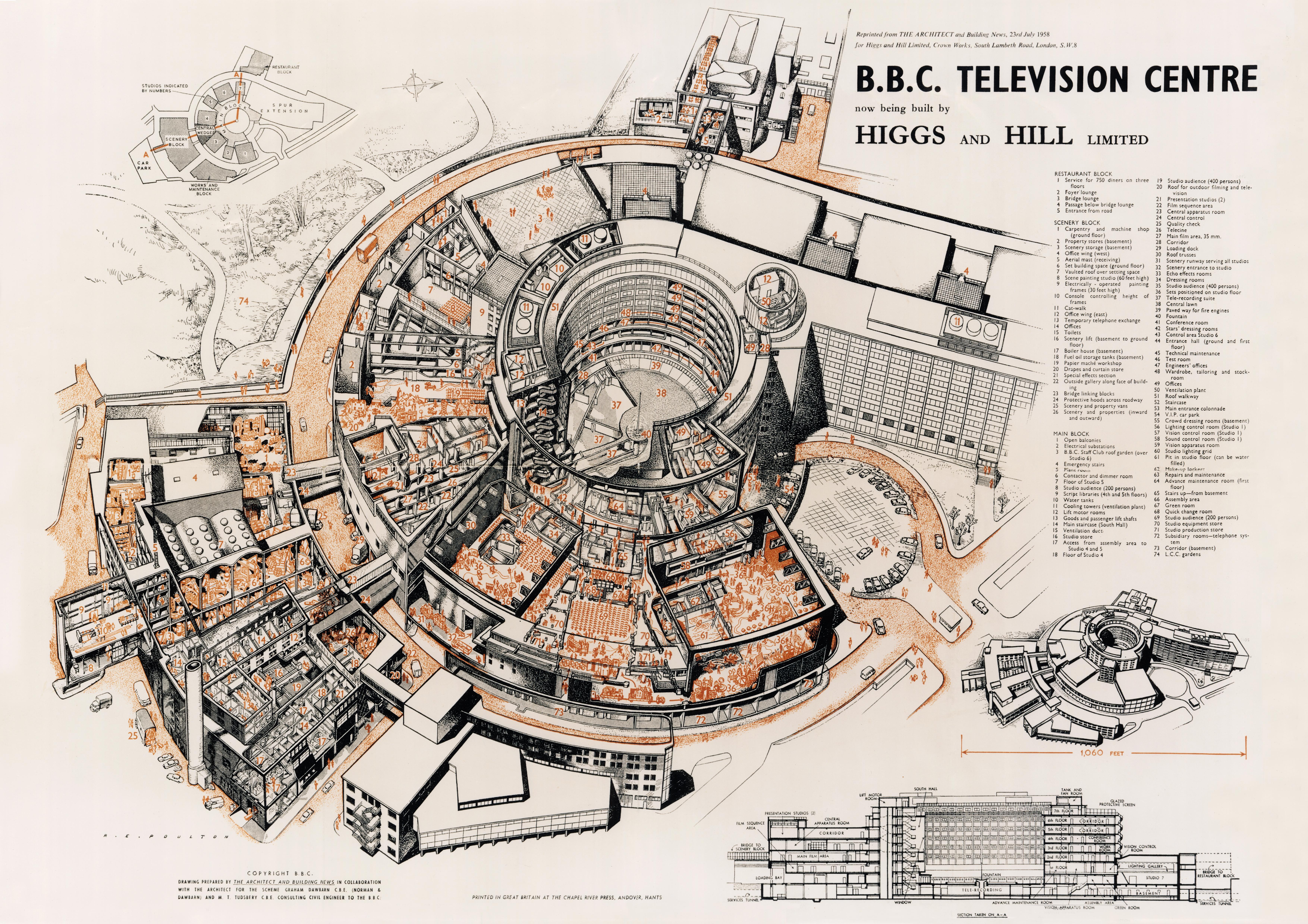 BBC Television Centre Exploded (Diagram)   Gizmodo UK